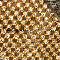 500 STRASS IMITATION MESH CRYSTAL - BASE GOLD